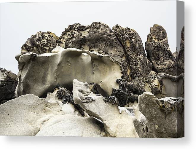 Tafoni Canvas Print featuring the photograph Tafoni Ledge With Hole by Studio Janney