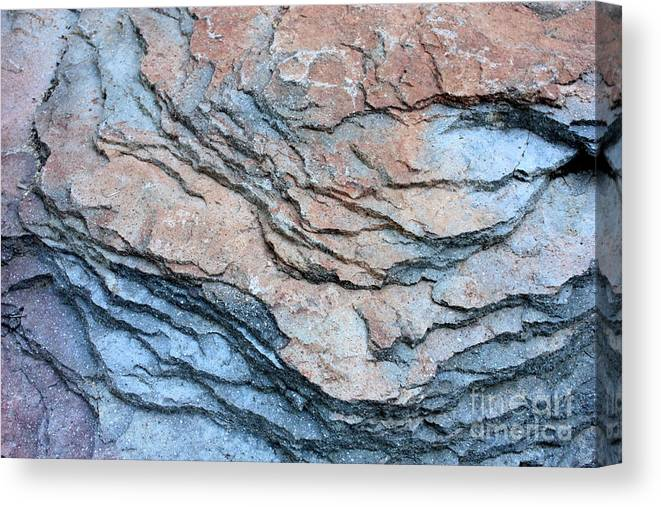 Nature Abstract Canvas Print featuring the photograph Tahoe Rock Formation by Carol Groenen