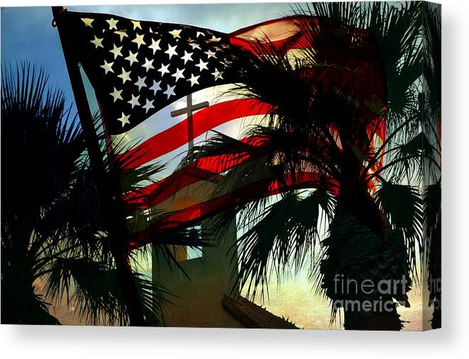 America Flag Canvas Print featuring the photograph Take Back America by Beverly Guilliams