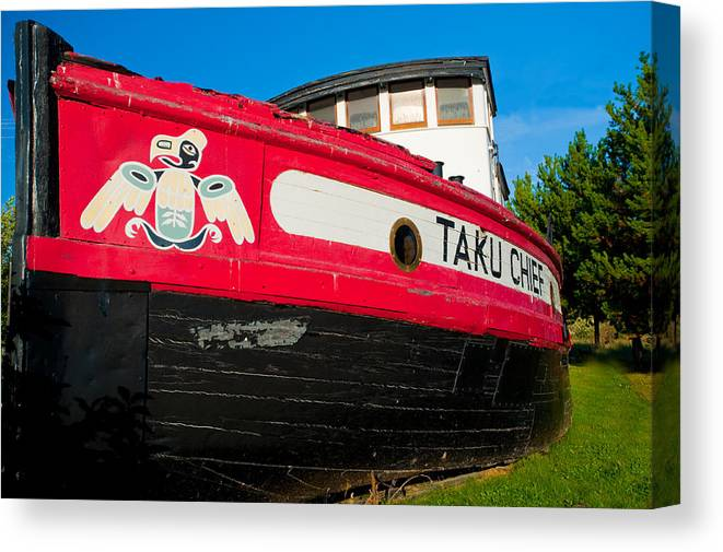 Canvas Print featuring the photograph Taku Chief by Clint Pickarsky