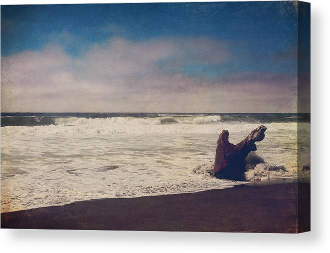 Manchester State Beach Canvas Print featuring the photograph That Dirty Game Recaptures Me by Laurie Search