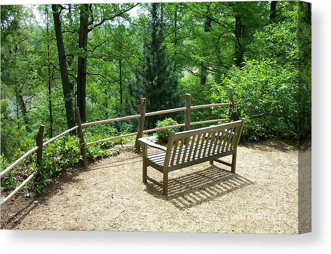 Benches Canvas Print featuring the photograph Asian Paths No. 10 by Walter Oliver Neal