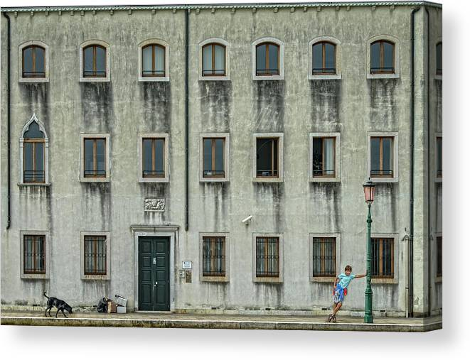 Italy Canvas Print featuring the photograph The Day Nothing Happened by Piet Flour