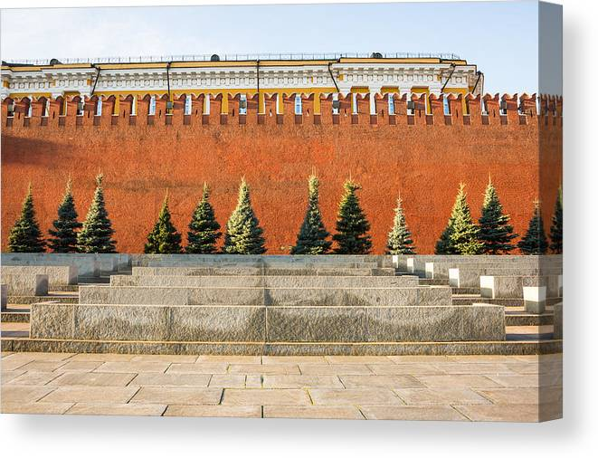 Architecture Canvas Print featuring the photograph The Kremlin Wall by Alexander Senin