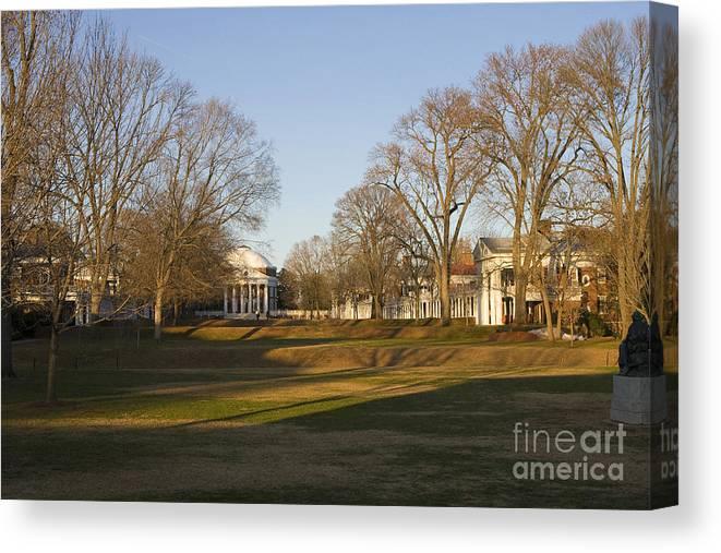 University Of Virginia Canvas Print featuring the photograph The Lawn University Of Virginia by Jason O Watson