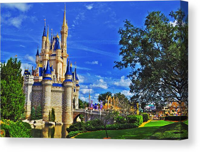 Disney Canvas Print featuring the photograph The Most Magical Of Kingdoms by Rachael M