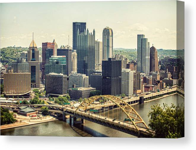 Pittsburgh Canvas Print featuring the photograph The Pittsburgh Skyline by Lisa Russo