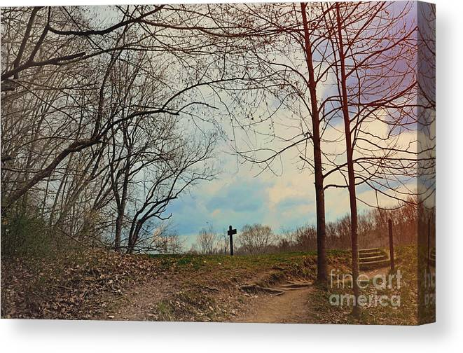 Exposed Canvas Print featuring the photograph The Post by Nicole LaPan