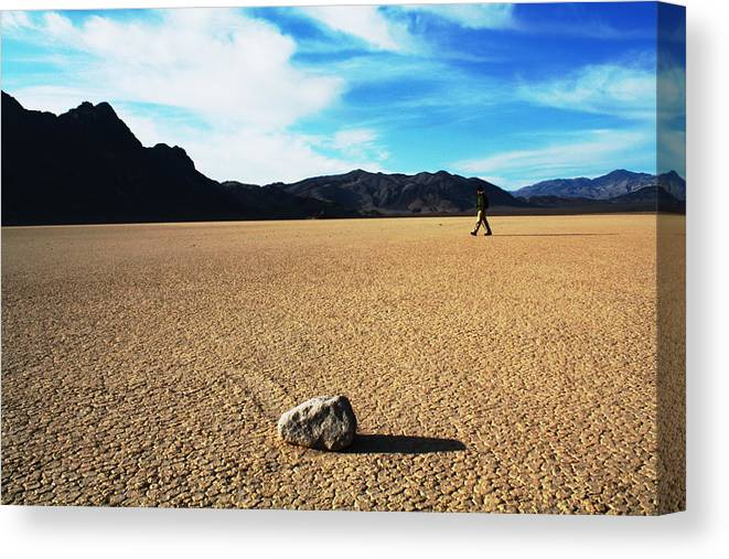 Death Valley Canvas Print featuring the photograph The Racetrack by Adriann Partrick