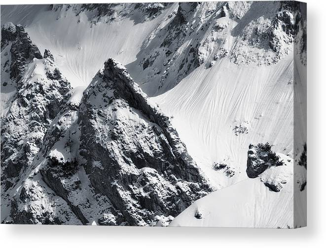 Moutains Canvas Print featuring the photograph The Rock by Bogdan Dan