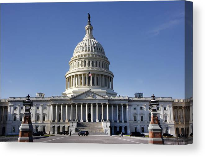 Kg Canvas Print featuring the photograph The United States Capitol by KG Thienemann