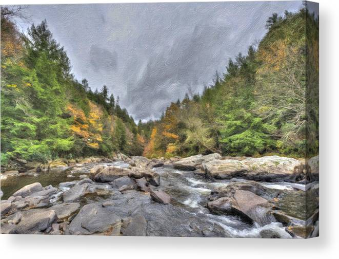 Water Canvas Print featuring the photograph The Wild River Oil Painting by Patrick Wolf