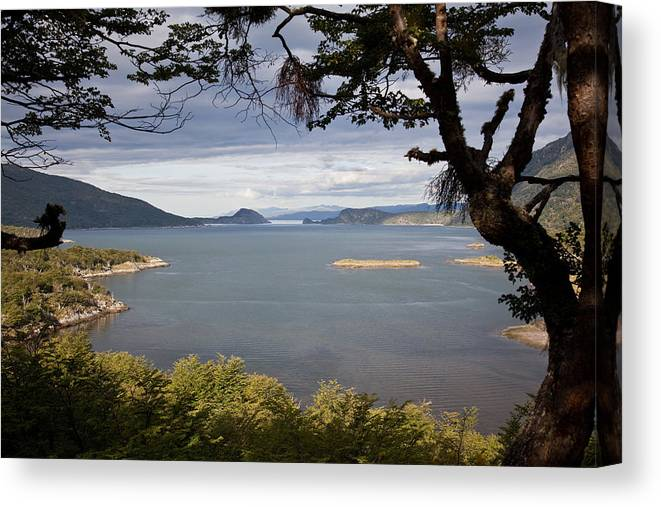 Argentina Canvas Print featuring the photograph Tierra Del Fuego by Wolfgang Woerndl