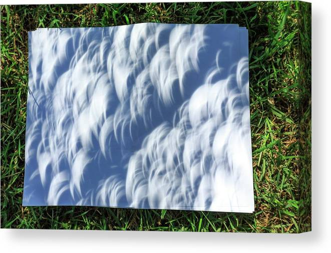 Solar Eclipse Canvas Print featuring the photograph Total Solar Eclipse by Dr Juerg Alean/science Photo Library