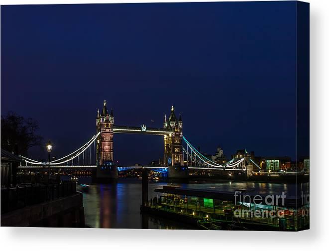 London Canvas Print featuring the photograph Tower Bridge by Jorgen Norgaard