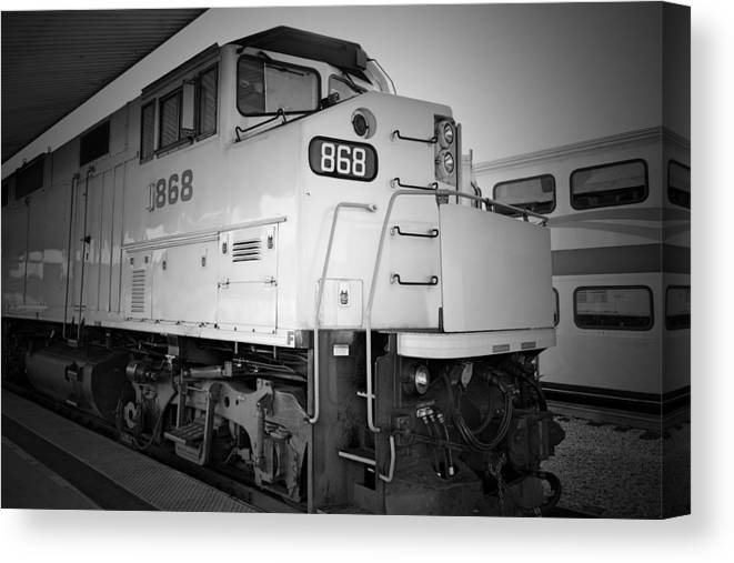 Transportation Canvas Print featuring the photograph Train by Ismael Roman