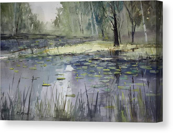 Landscape Canvas Print featuring the painting Tranquillity by Ryan Radke