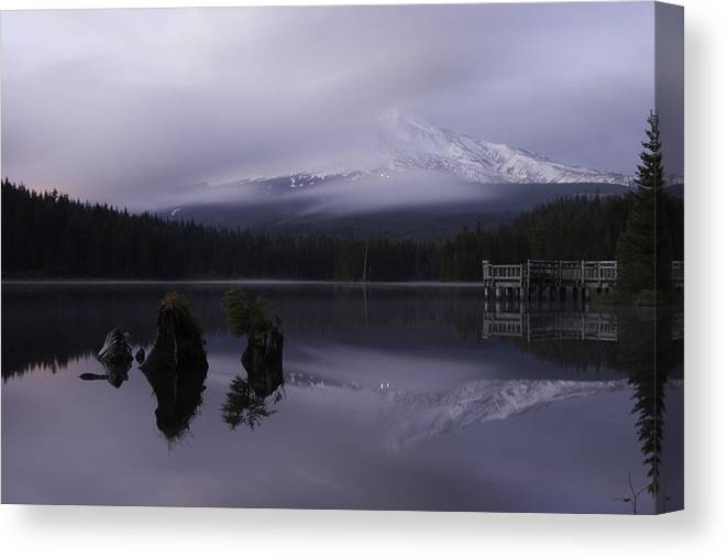 Lake Canvas Print featuring the photograph Trillium Lake by Curtis Knight