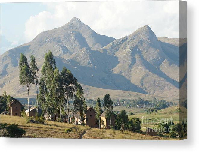 Africa Canvas Print featuring the photograph Tsaranoro Mountains Madagascar 1 by Rudi Prott