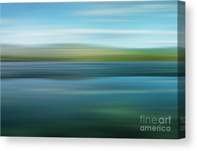 Impressionistic Canvas Print featuring the photograph Twin Lakes by Priska Wettstein