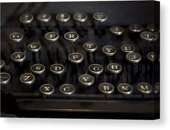 Keys Canvas Print featuring the photograph Typewriter Keys by Jessica Berlin