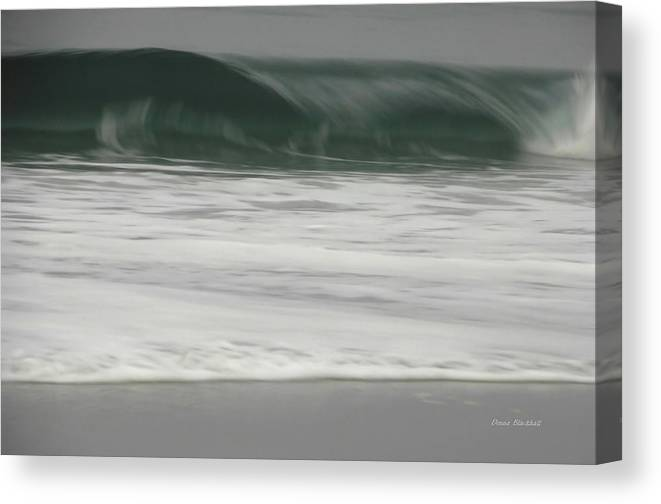 Ocean Canvas Print featuring the photograph Upper Crest by Donna Blackhall