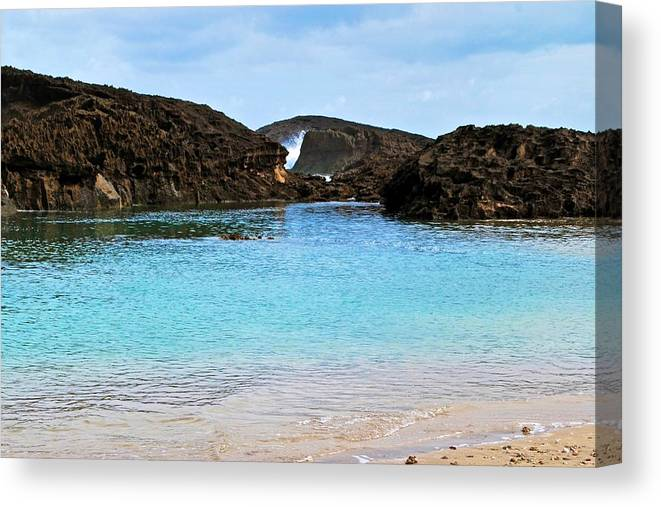 Canvas Print featuring the photograph Vega Baja Beach 4 by Ricardo J Ruiz de Porras