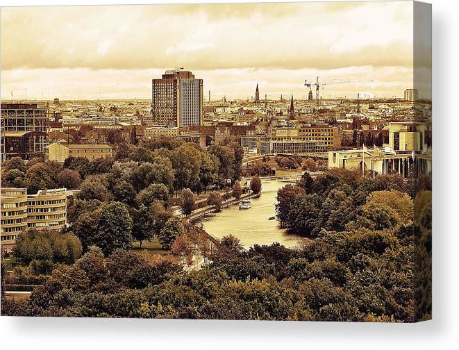 Autumn Canvas Print featuring the photograph View Of Berlin by Gynt