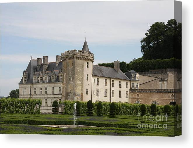 Palace Canvas Print featuring the photograph Villandry Chateau And Boxwood Garden by Christiane Schulze Art And Photography