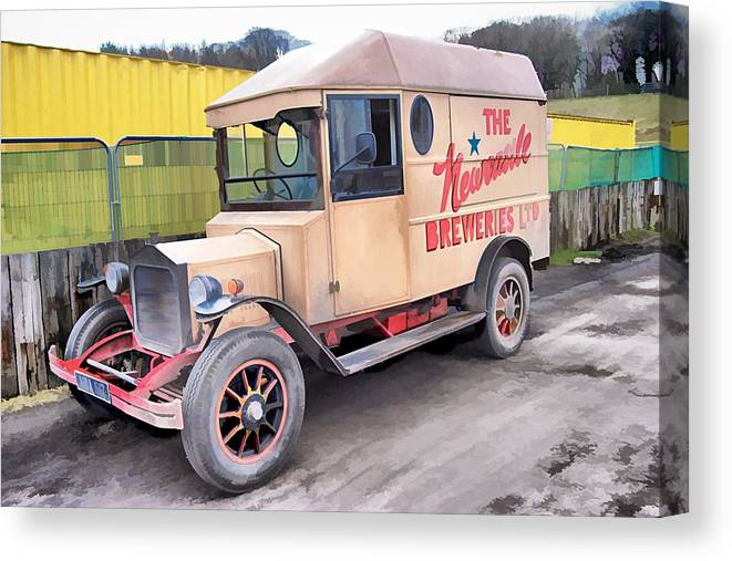 Beamish Canvas Print featuring the photograph Vintage Brewery Van by John Lynch