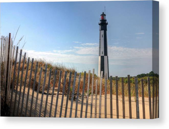 Lighthouse Canvas Print featuring the photograph Virginia Beach by JC Findley