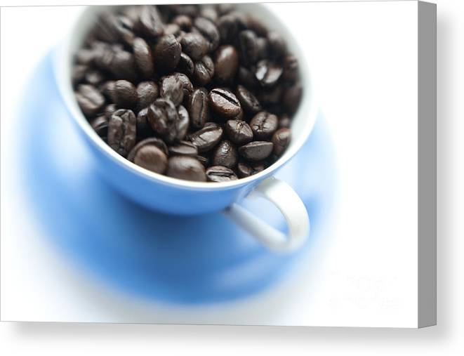 Coffee Canvas Print featuring the photograph Wake-up Cup by Priska Wettstein