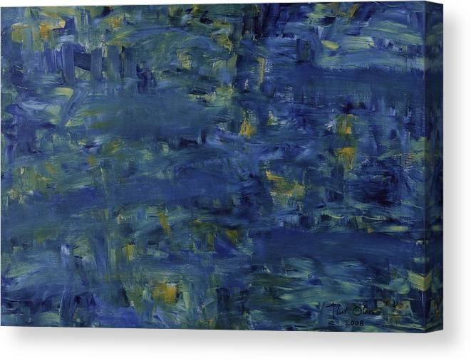 Water Canvas Print featuring the painting Pond by Kurt Olson