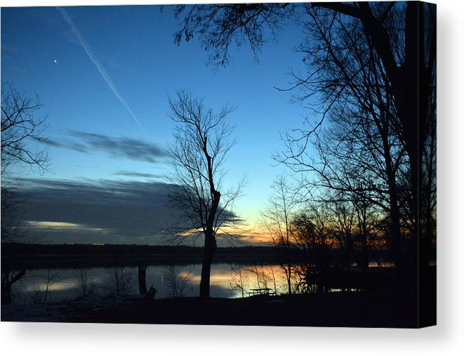 Sunset Canvas Print featuring the photograph Water Color Sunset by Bill Helman