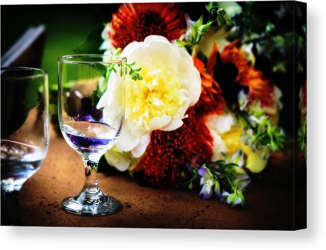 Water Canvas Print featuring the photograph Water Goblet by Sennie Pierson