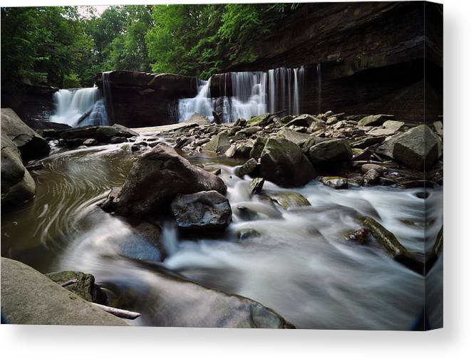 Waterfall Canvas Print featuring the photograph Waterfall by Patrick Friery
