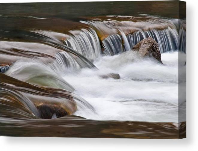 All Rights Reserved Canvas Print featuring the photograph Waterfalls On The Blue by Mike Berenson