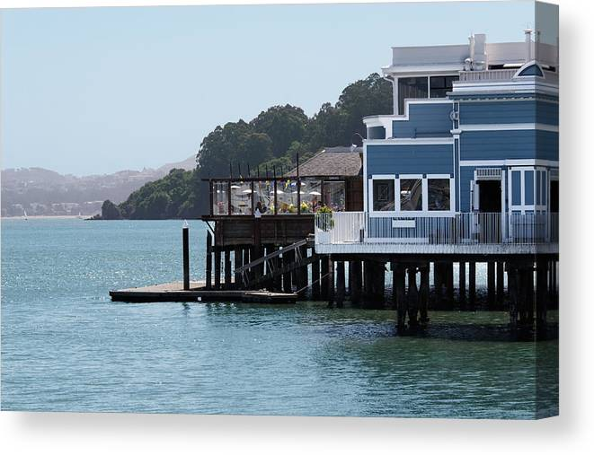 Restaurant Canvas Print featuring the photograph Waterfront Dining by Jo Ann Snover