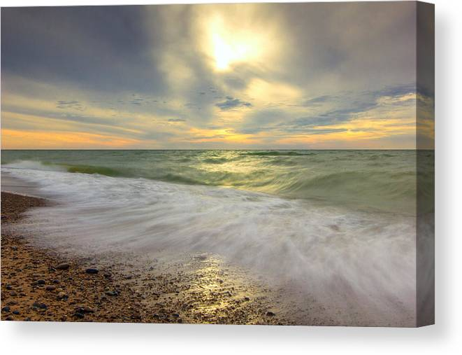 Waves Canvas Print featuring the photograph Waves by Jackie Novak