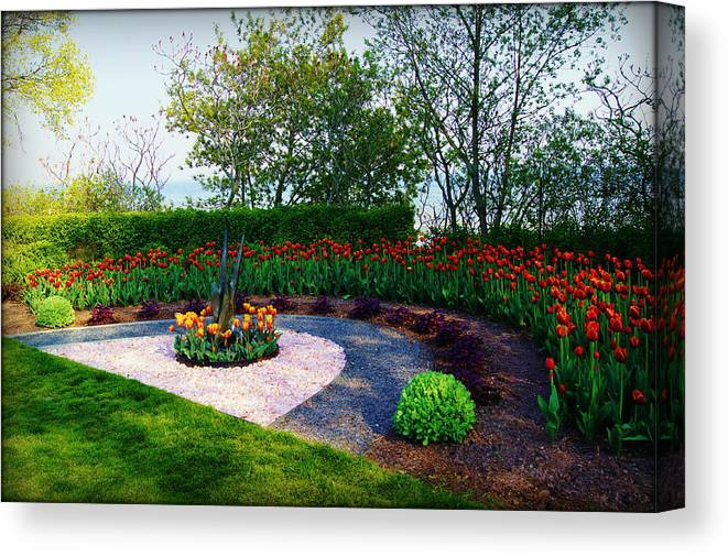 Collections By Carol Canvas Print featuring the photograph West Of The Lake Gardens Manitowoc Wi by Carol Toepke