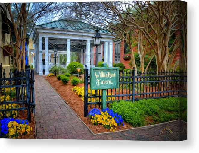 Smithfield Canvas Print featuring the photograph William Rand Tavern At Smithfield Inn by Williams-Cairns Photography LLC