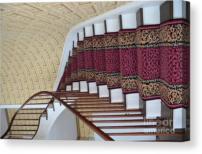 Winding Canvas Print featuring the photograph Winding Staircase by Kathleen Struckle