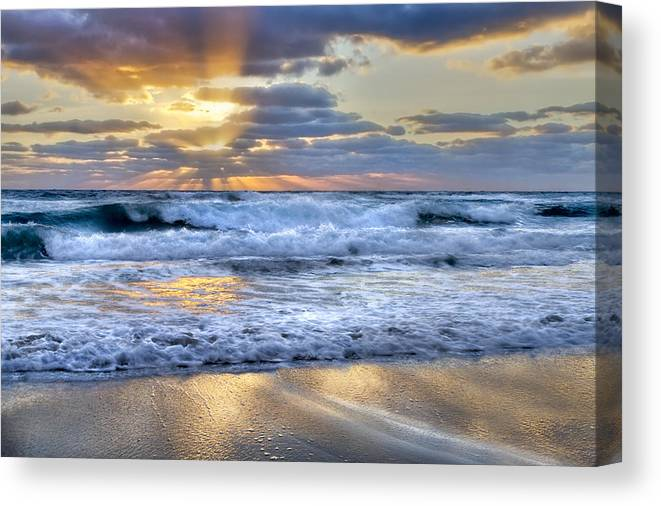 Clouds Canvas Print featuring the photograph Window To Heaven by Debra and Dave Vanderlaan