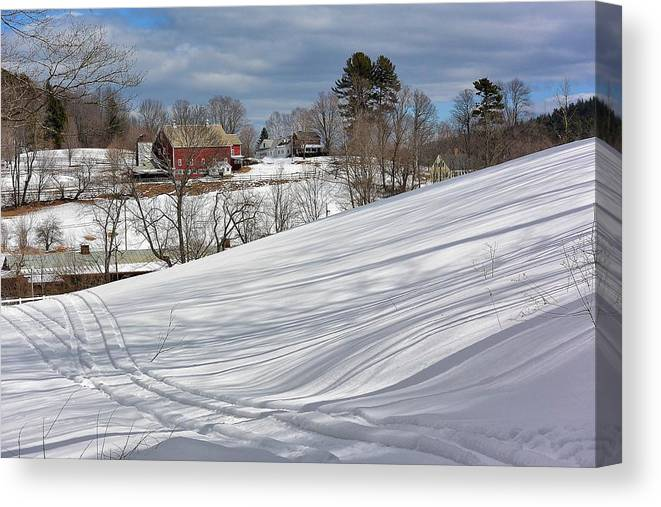Snow Canvas Print featuring the photograph Winter At Gmha by Mark J Curran
