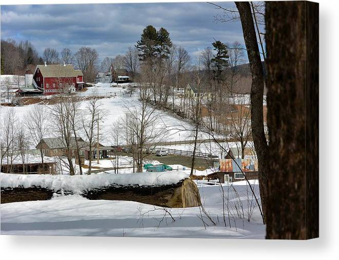 Snow Barns Canvas Print featuring the photograph Winter At The Gmha II by Mark J Curran