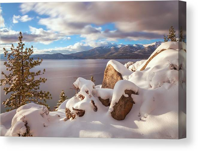 Landscape Canvas Print featuring the photograph Winter In Tahoe by Jonathan Nguyen