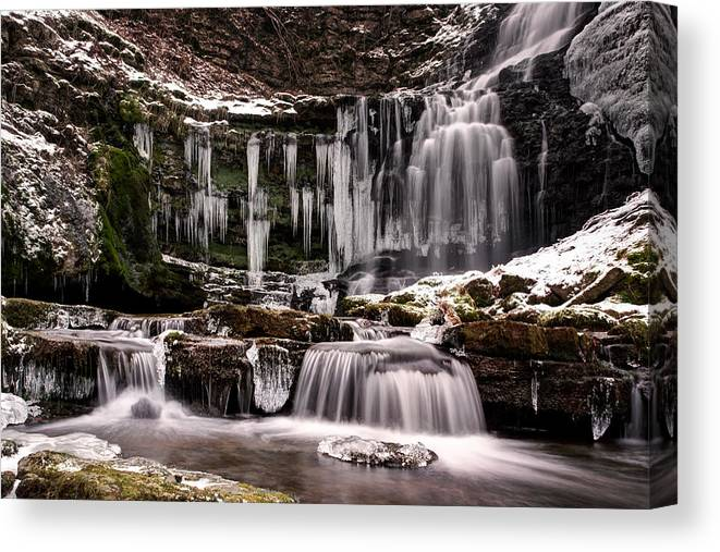 Settle Canvas Print featuring the photograph Winter Wonders At Scaleber Force by Chris Frost