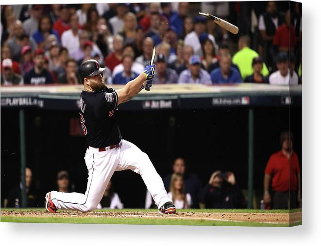 People Canvas Print featuring the photograph World Series - Chicago Cubs V Cleveland by Ezra Shaw