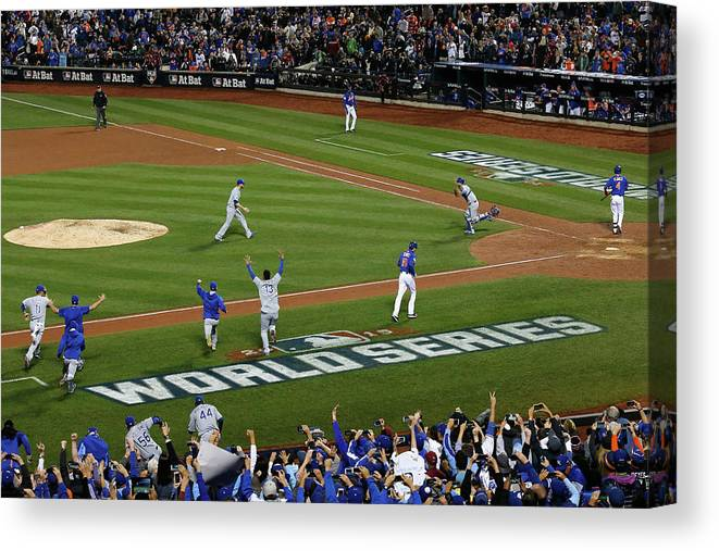 American League Baseball Canvas Print featuring the photograph World Series - Kansas City Royals V New by Doug Pensinger