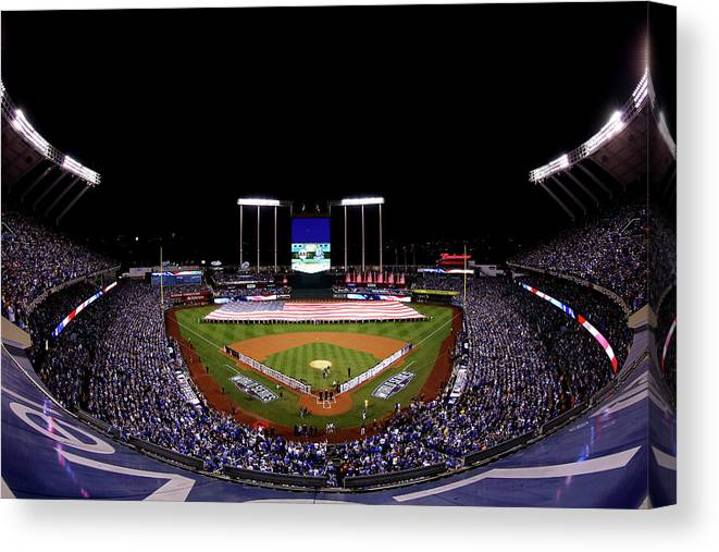 People Canvas Print featuring the photograph World Series - San Francisco Giants V by Alex Trautwig
